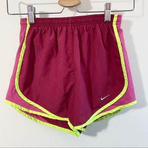 Nike dri-fit pink running shorts size xs